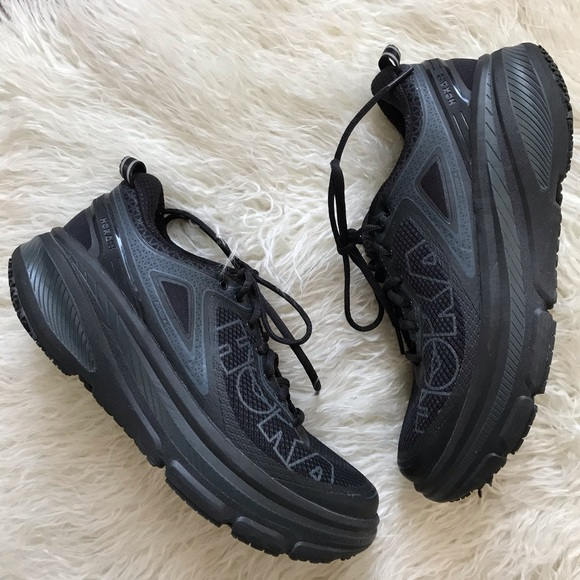 all black hoka shoes